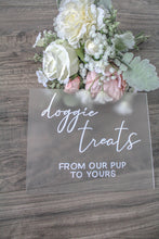 Load image into Gallery viewer, Acrylic Doggie Treats Sign