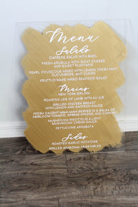 Acrylic Dinner Menu Sign