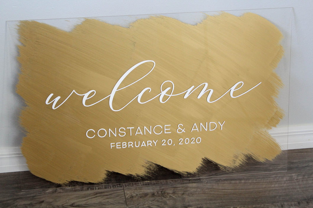 Welcome Acrylic Wedding Sign