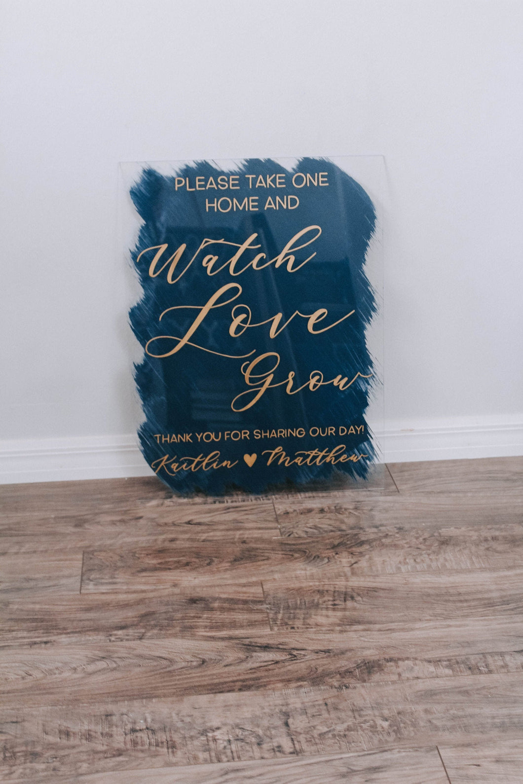 Watch Love Grow Wedding Favor Sign
