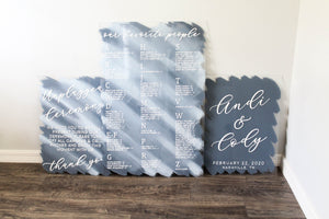 Acrylic Wedding Sign Bundle
