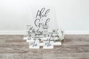 Frosted Acrylic Wedding Sign Bundle