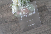 Load image into Gallery viewer, Sign Our Guest Book Frosted Acrylic