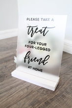 Load image into Gallery viewer, Acrylic Dog Treat Sign