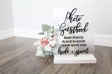 Load image into Gallery viewer, Photo Guest Book Sign