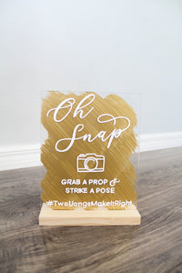 Wedding Hashtag Sign Oh Snap