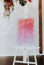 Load image into Gallery viewer, Iridescent Wedding Welcome Sign