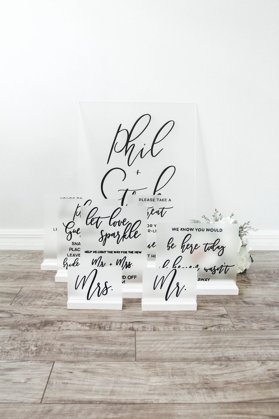 Frosted Wedding Signs, Acrylic Welcome Sign, Acrylic Seating Chart, Wedding Sign Set, Wedding Sign Bundle
