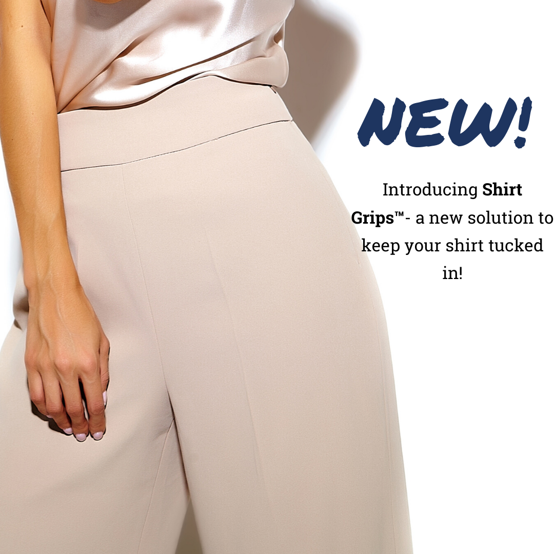 Fabhesive Shirt Grips- a new solution to keep your shirt tucked in | Waistband Shirt Grips