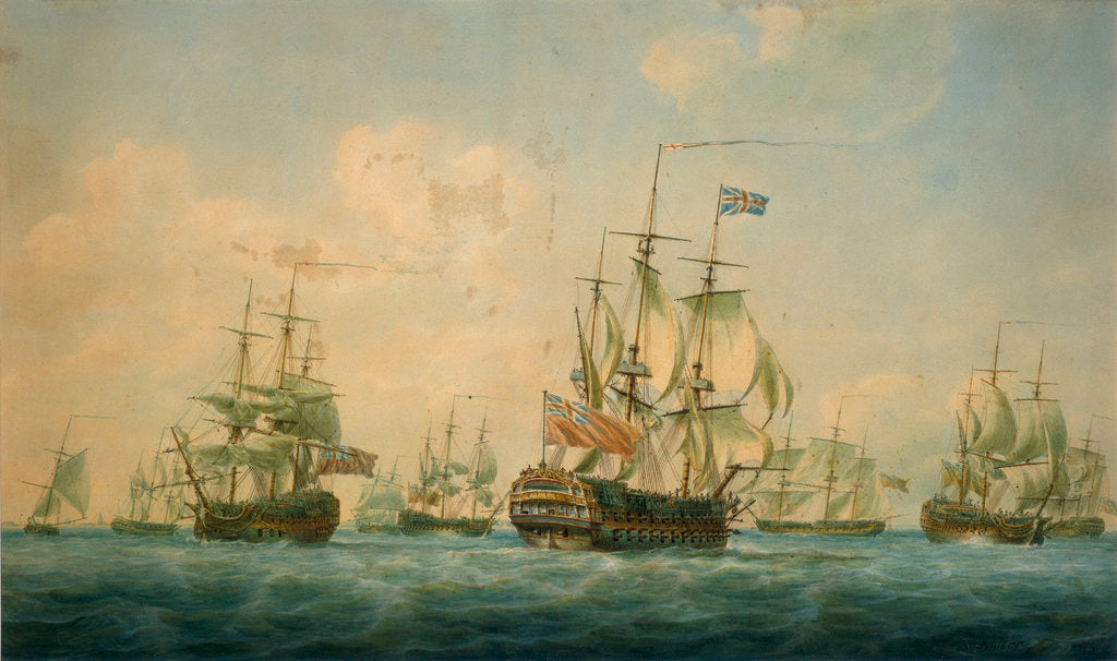 Detail of Ships at Spithead 1797 by Nicholas Pocock