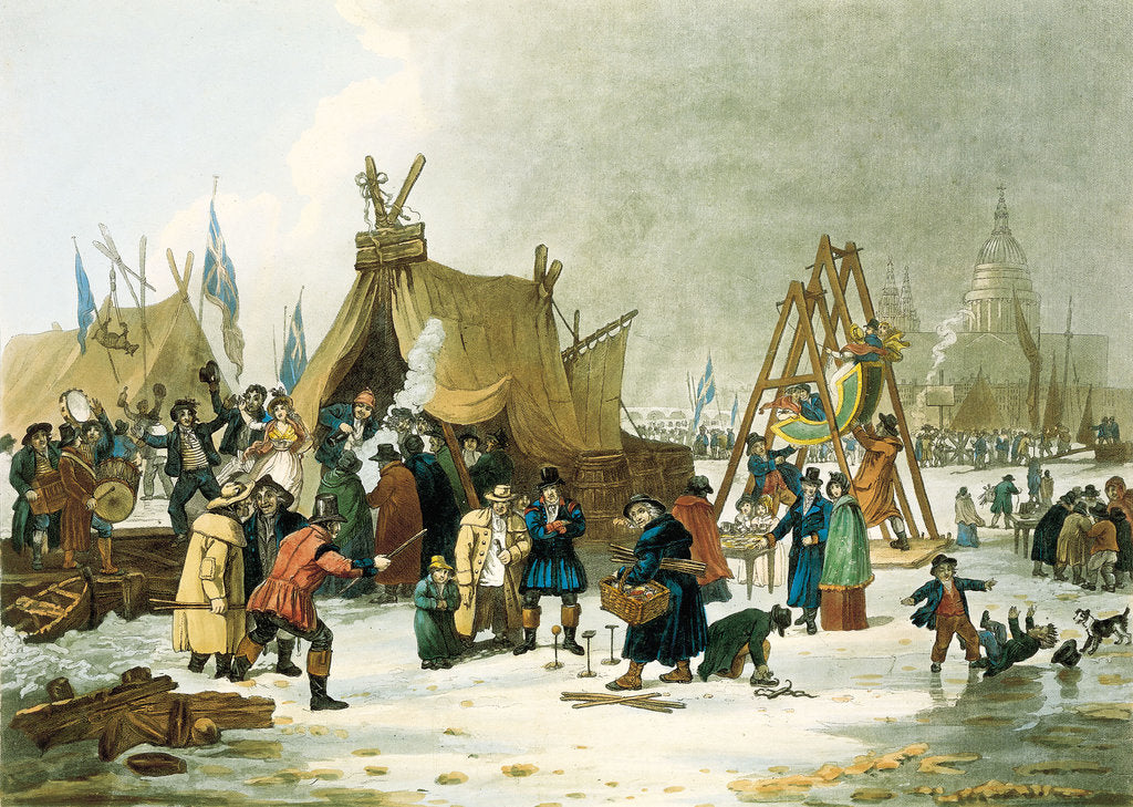 Detail of Frost fair on the river Thames, 19th century by Luke Clennel