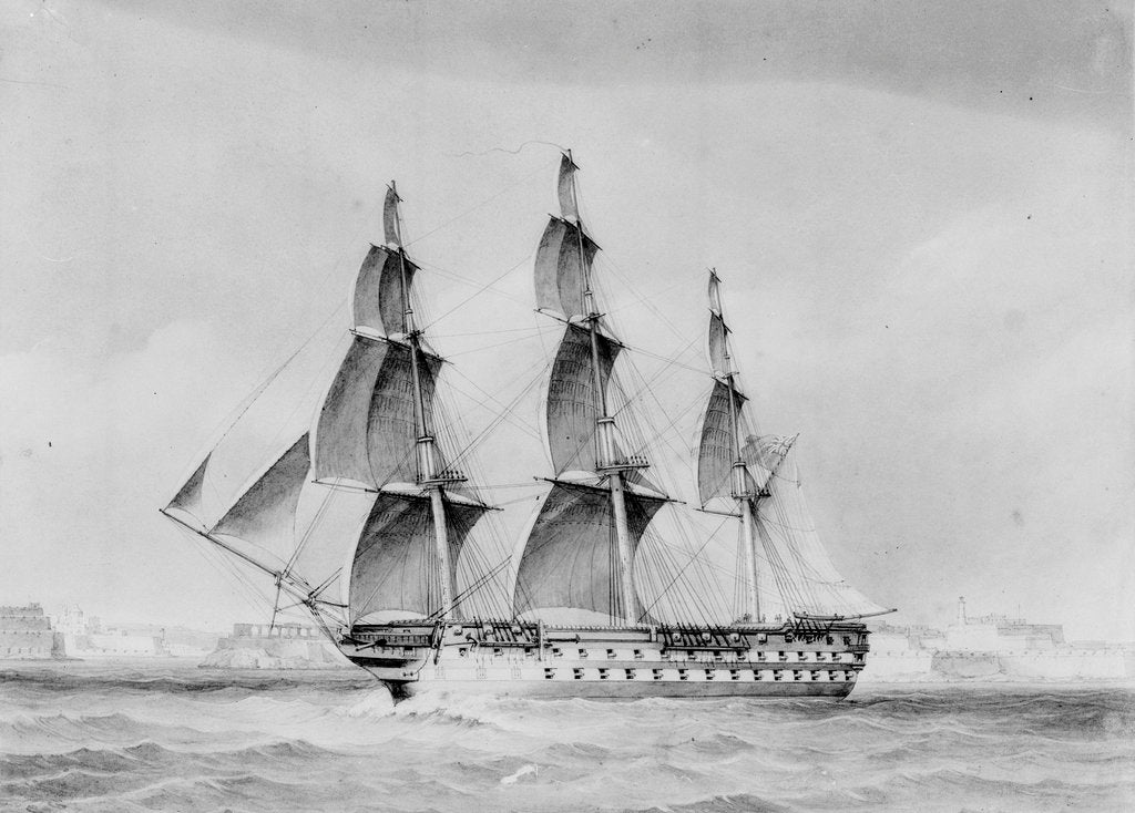 Detail of HMS 'Vengeance' (1855) by unknown