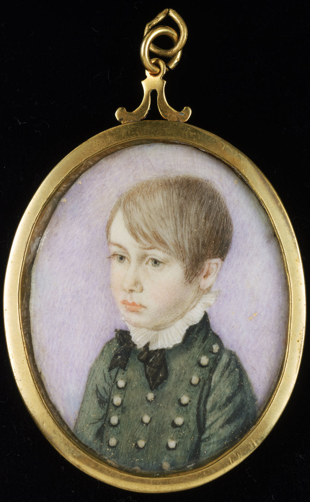 Detail of Portrait of a young boy, formerly thought to be Horatio Nelson by unknown