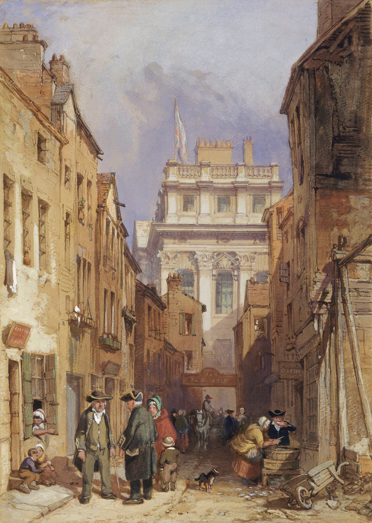 Detail of Fisher's Alley, Greenwich by Clarkson Stanfield
