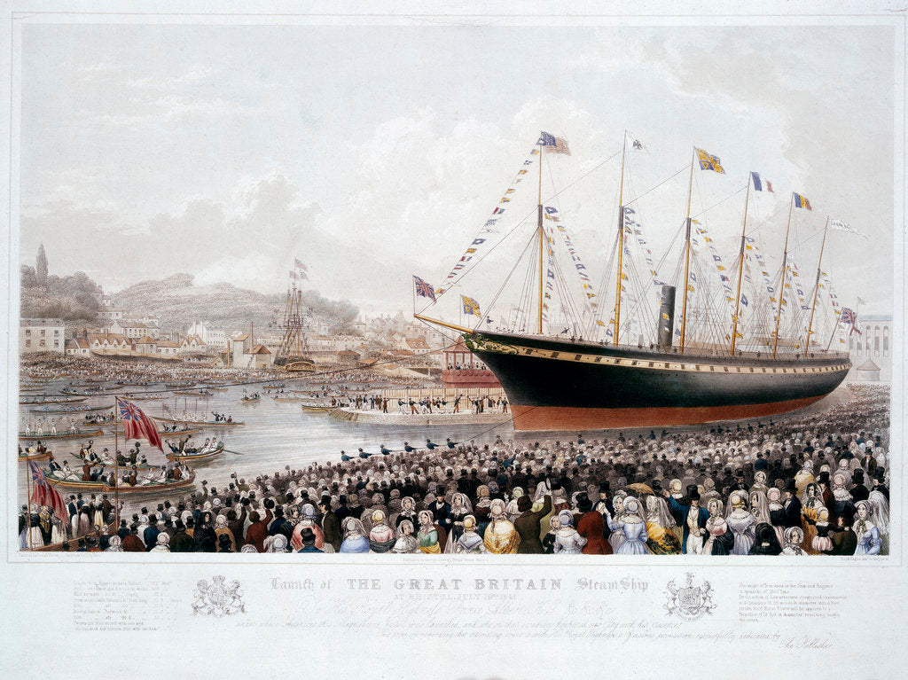 Detail of Launch of the Great Britain Steam Ship at Bristol, July 19th 1843 by Joseph Walter