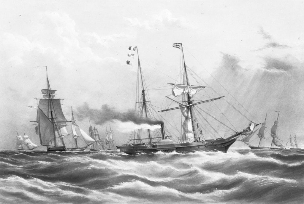 Detail of HM steam frigate 'Firebrand' and the Experimental Squadron by H. John Vernon