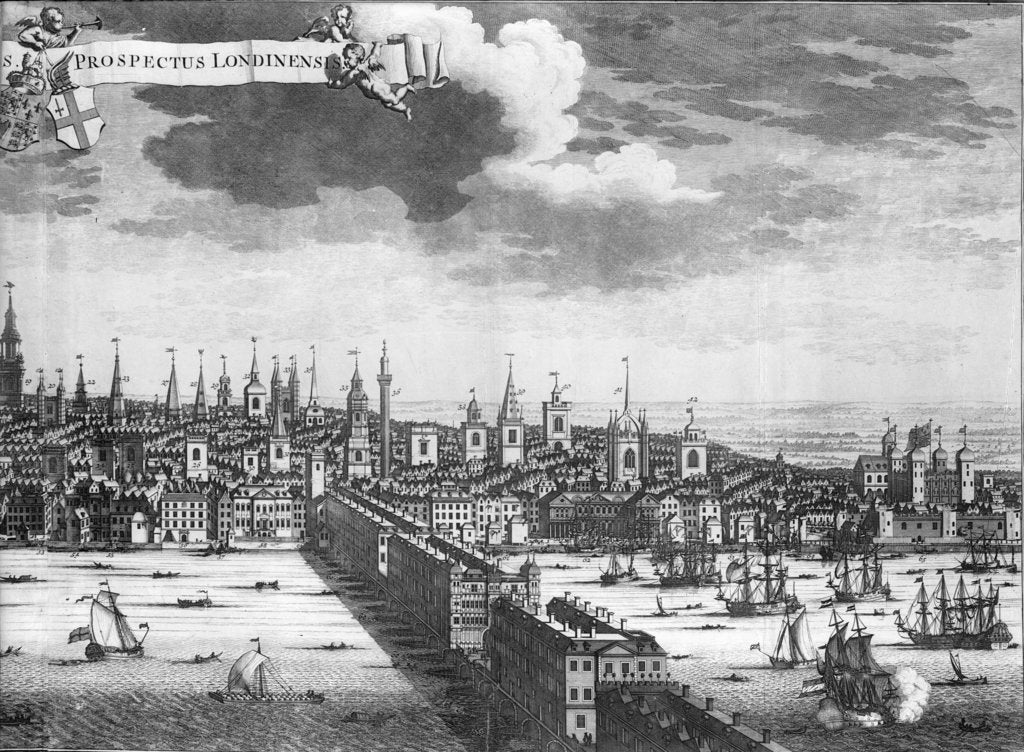 Detail of A prospect of the city of London, Plate I by unknown