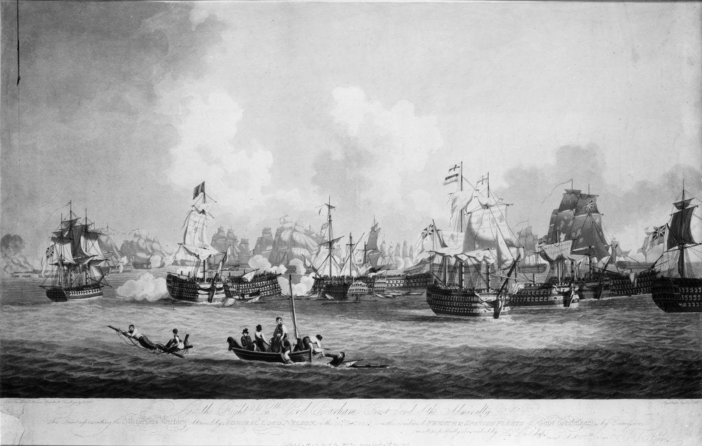 The 'Glorious Victory' at the Battle of Trafalgar, 21 October 1805 by John Thomas Serres