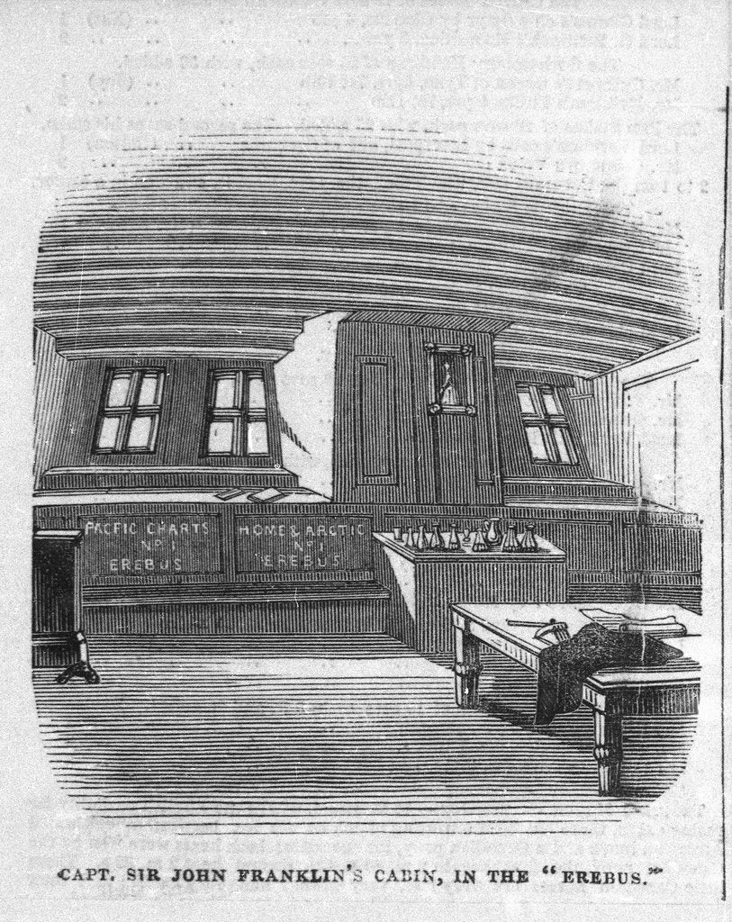 Detail of Captain Sir John Franklin's cabin in the 'Erebus' by unknown