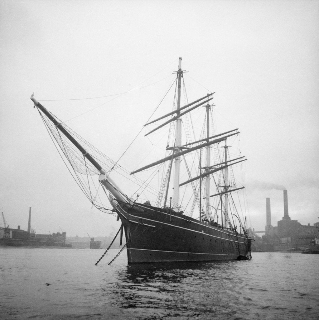 Detail of 'Cutty Sark' (1869) at anchor by unknown