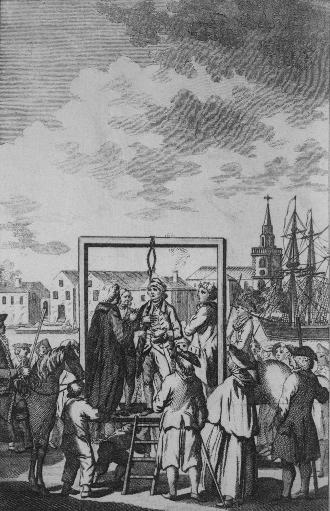 Detail of Public hanging of a pirate by unknown