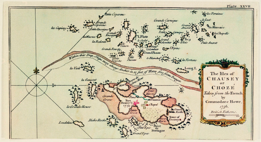 Detail of The Isles of Chausey or Choze Taken from the French by Commodore Howe, 1756 by T. Jeffreys