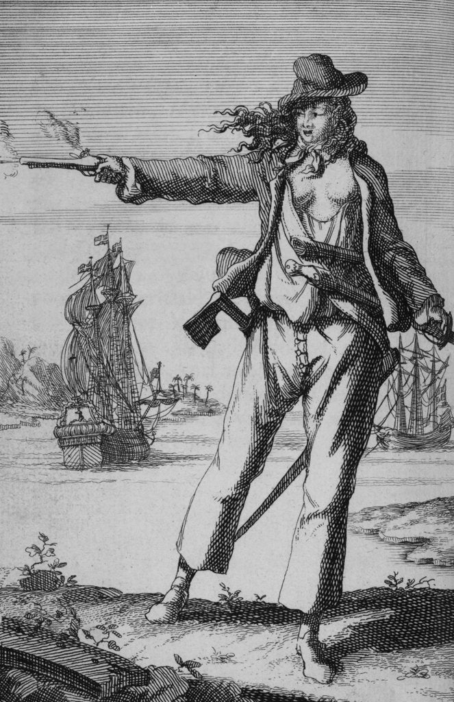 Detail of Anne Bonny, female pirate by unknown
