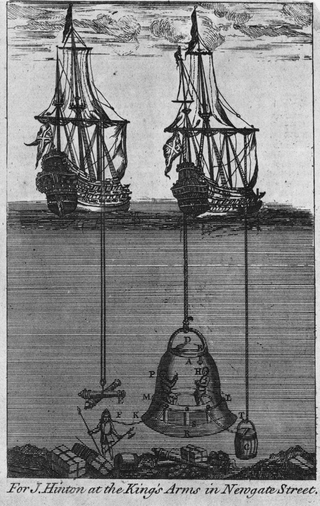 Detail of Halley's diving bell by unknown