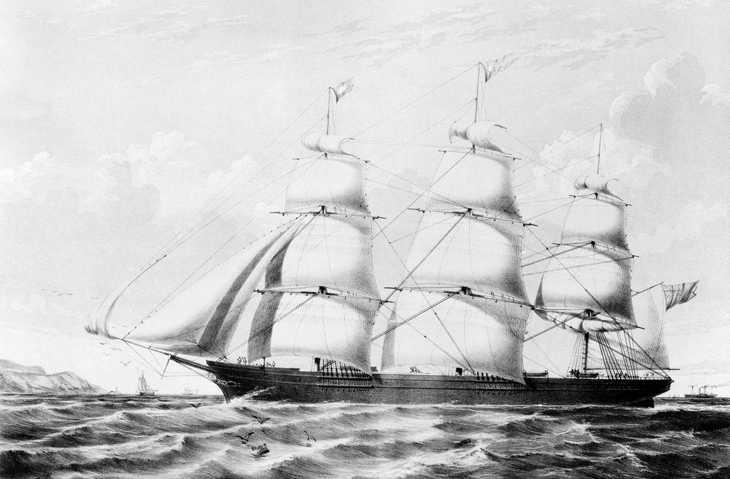 Detail of The Australian clipper 'White Star' by John R. Isaac