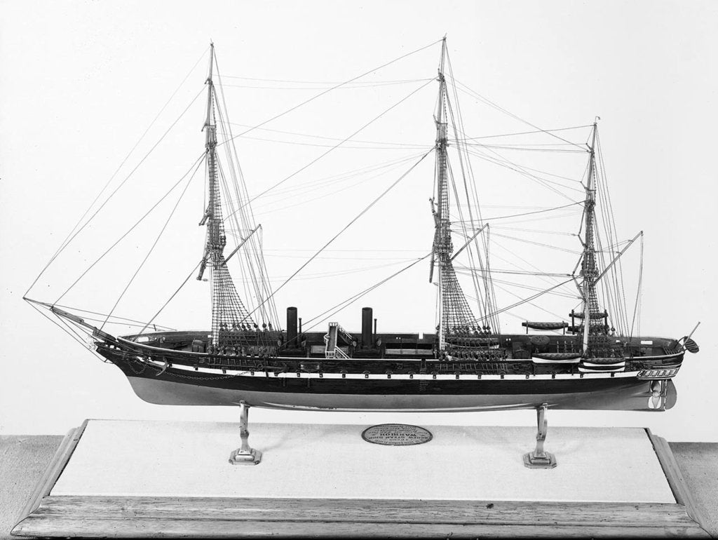 Detail of Model of ironclad battleship HMS 'Warrior' (1860) by unknown