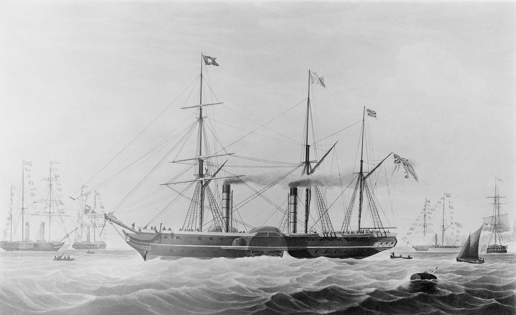 Detail of The Peninsular and Oriental Steam Navigation Company ship 'Hindostan' by Edward Duncan