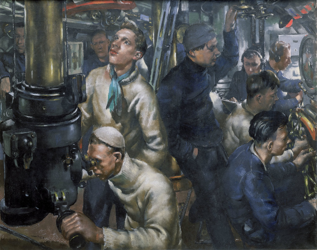 Detail of Stand by tubes. The control room of HMS 'Stubborn' by William Dennis Dring