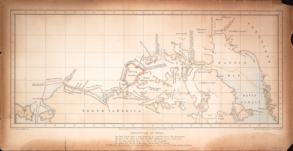 Detail of Chart of the North West Passage by S. Gurney Cresswell; Day & Son