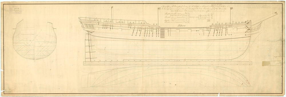 Lines plan for 'Success' (1781)
