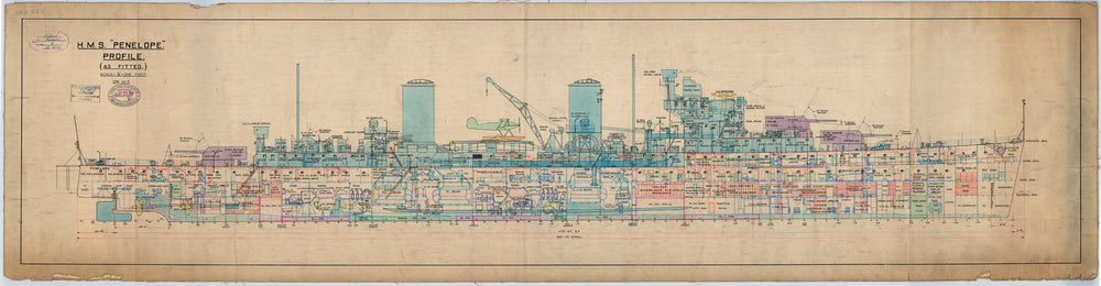 Profile plan of HMS 'Penelope' (1935)