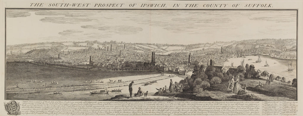 Detail of The South-West Prospect of Ipswich, in the County of Suffolk by Samuel Buck; Nathaniel Buck