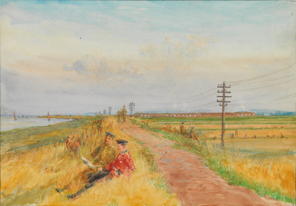 Detail of Milton Ranges, Gravesend by William Lionel Wyllie