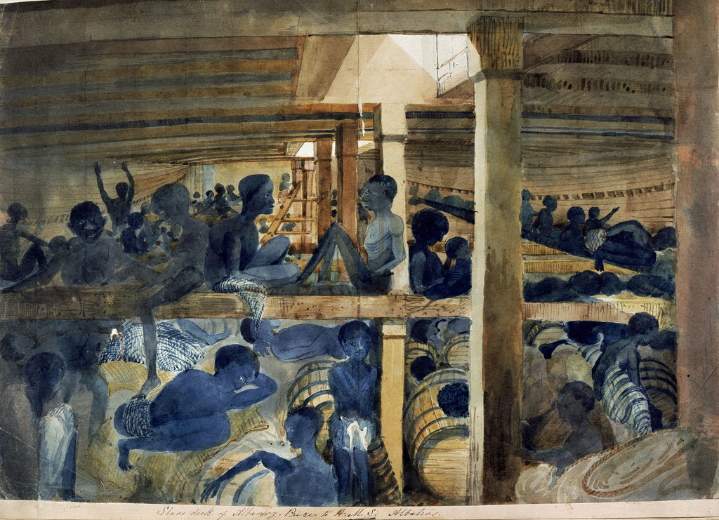 Detail of Slaves below deck by Francis Meynell