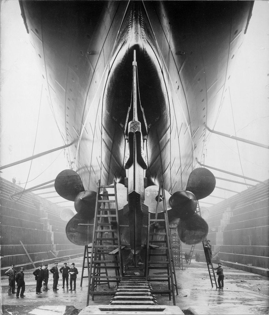 Detail of Stern of RMS 'Lusitania' (1906) by unknown