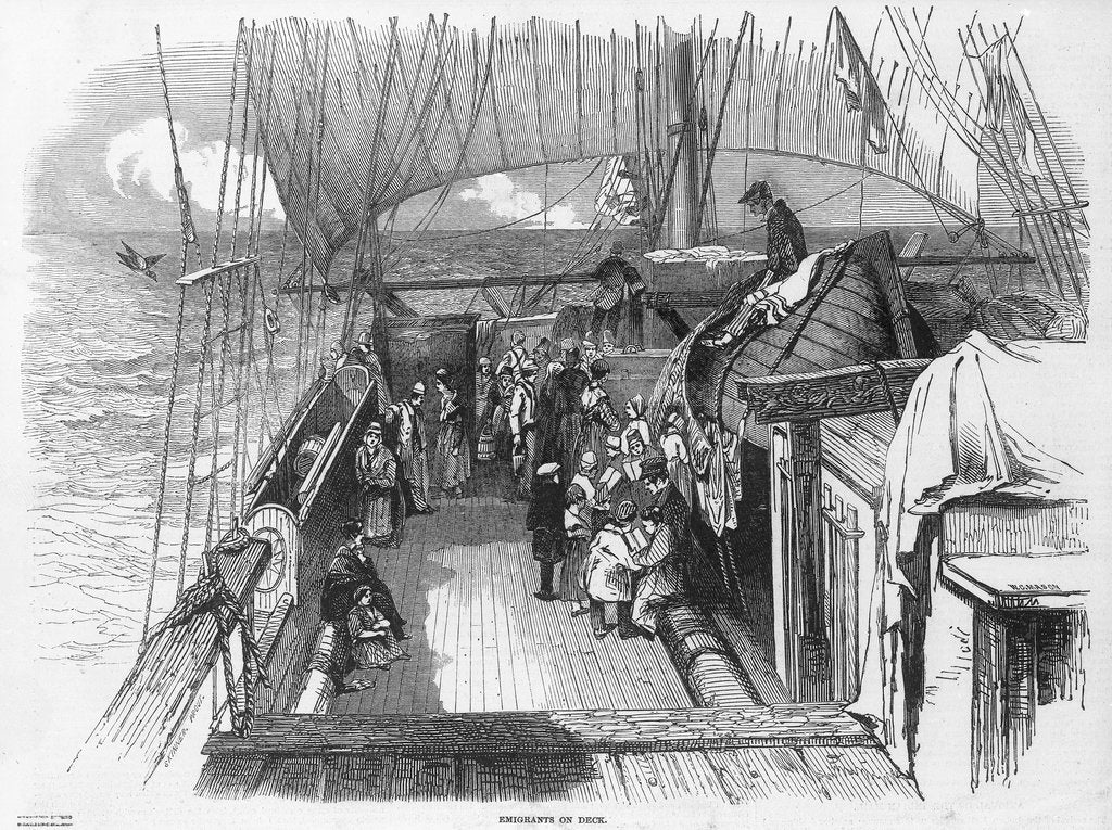 Detail of Emigrants on deck by unknown