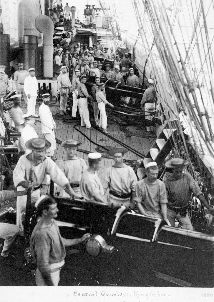 Detail of HMS 'Kingfisher' crew by unknown