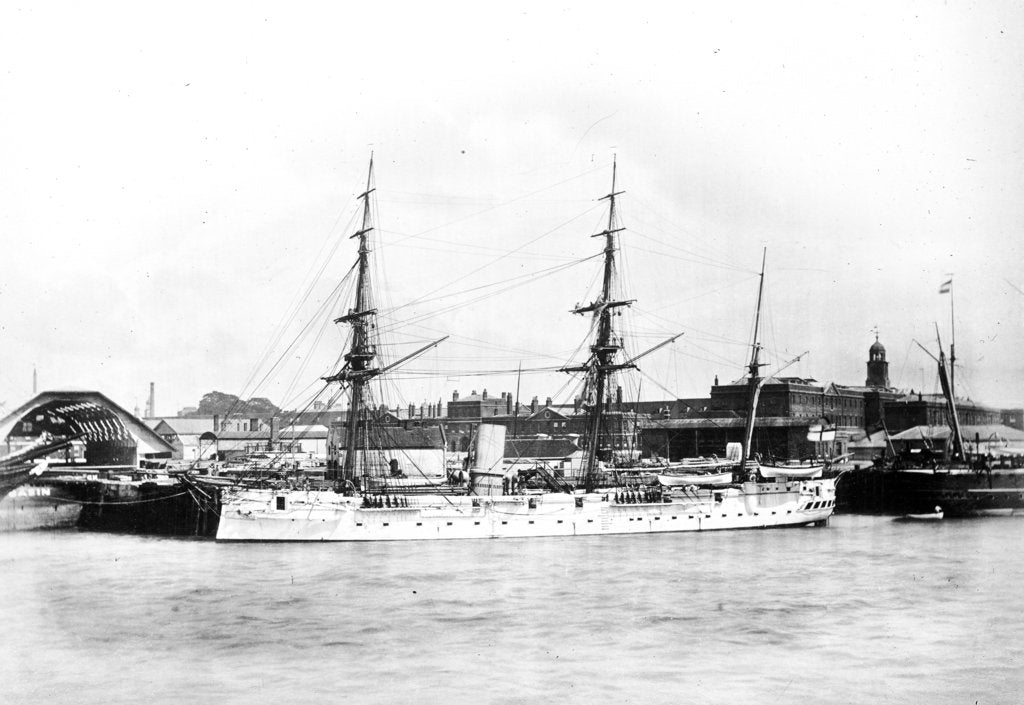 Detail of Photograph of HMS 'Dido' by unknown