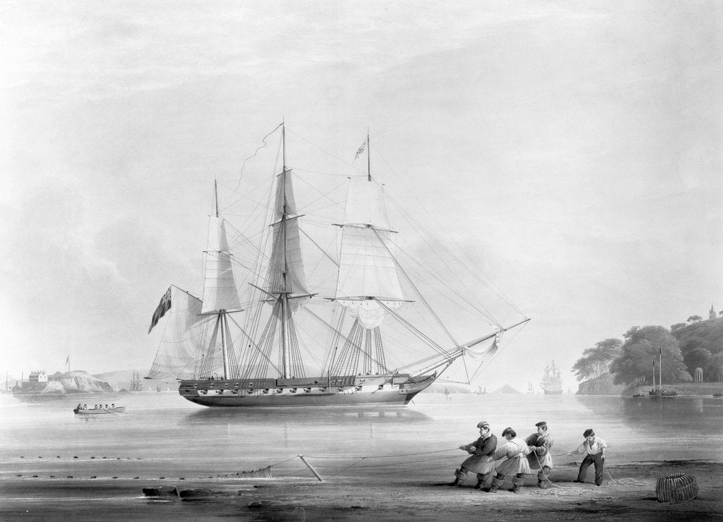 Detail of HMS 'Cambrian' (Br, 1841) by Edward Duncan