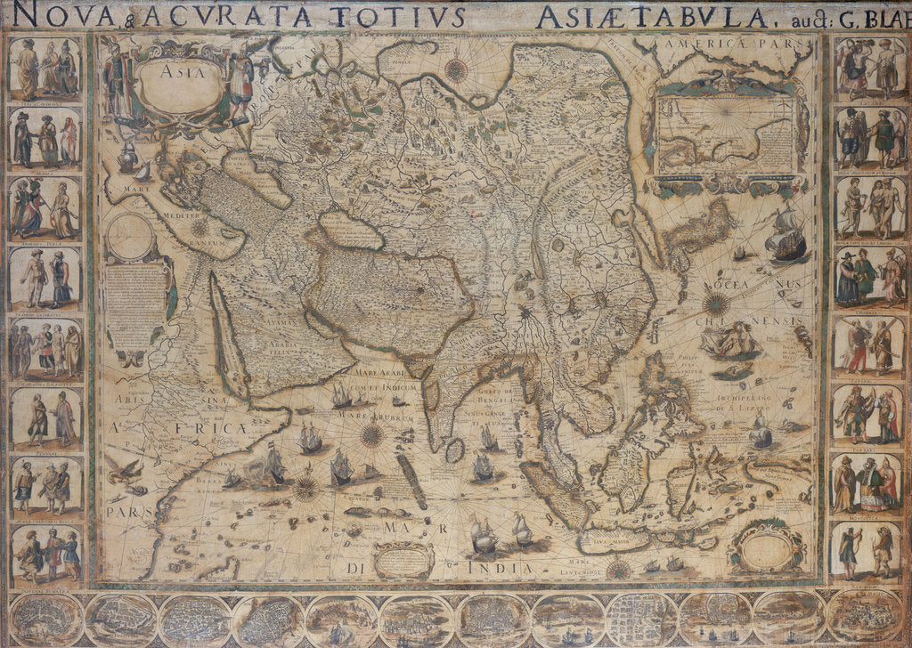Detail of Nova & Acurata Totius Asiae Tabula, auct G. Blaeu by unknown