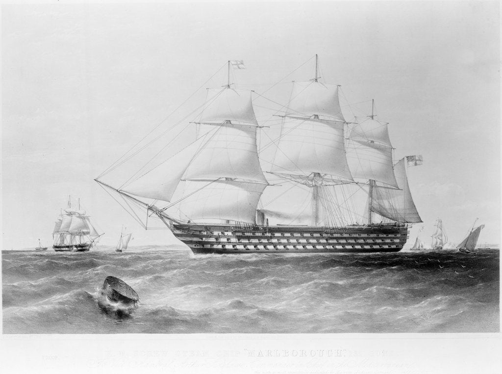 Screw Steam Ship HM 'Marlborough' by Thomas Goldsworth Dutton