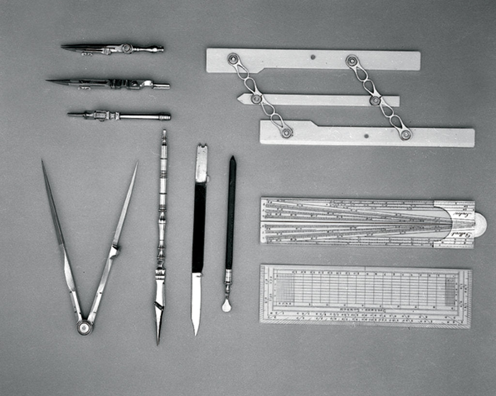 Detail of Drawing instrument set by Dollond