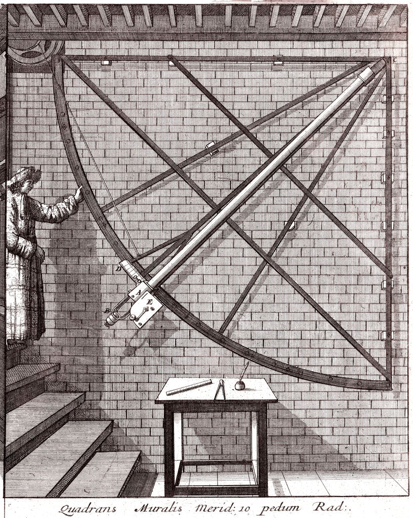Detail of Robert Hooke's 10-foot mural quadrant made for the Royal Observatory by Francis Place