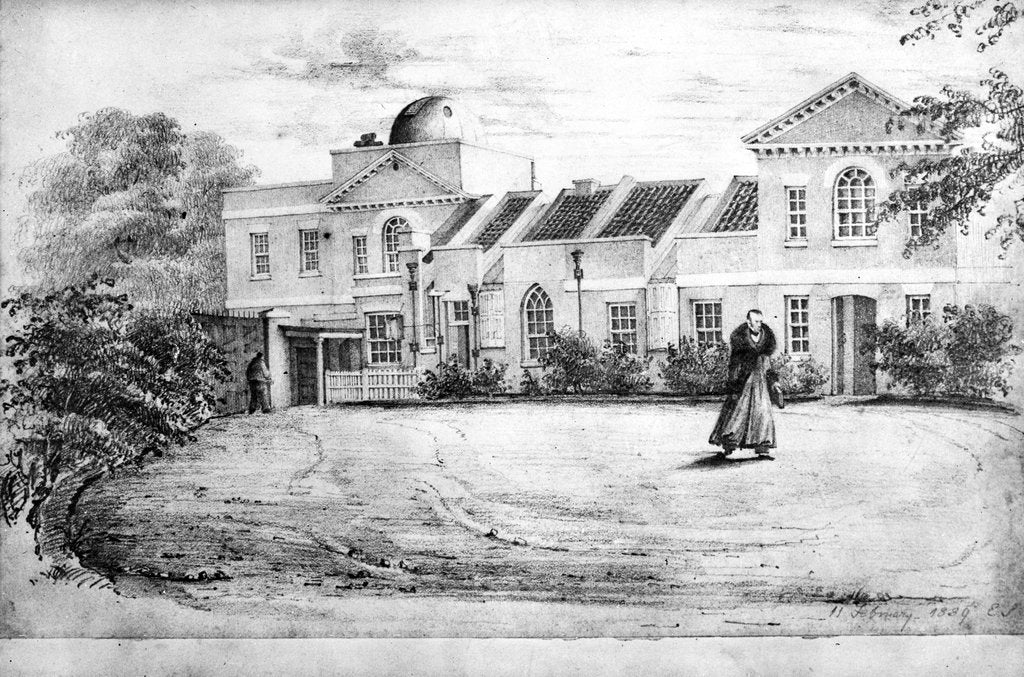 Detail of Old Royal Observatory Miss Smiths drawings 18th Oct 1838 by Miss Smith