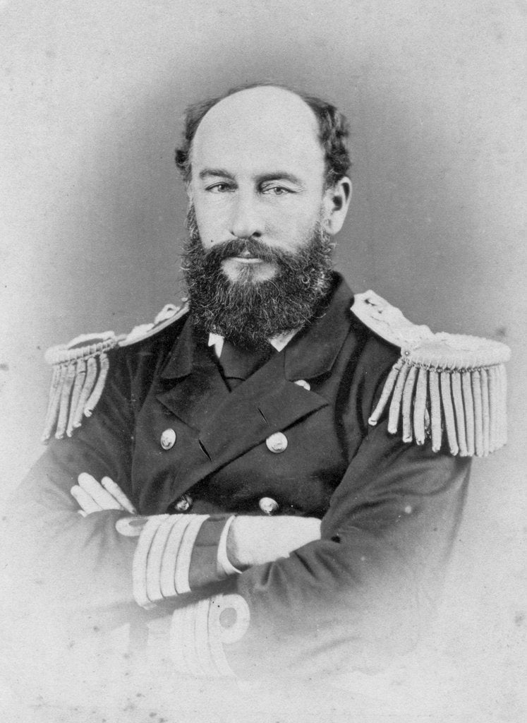 Detail of Admiral Sir George Strong Nares KCB (1831-1915), Arctic explorer and commander of 'Challenger' by unknown