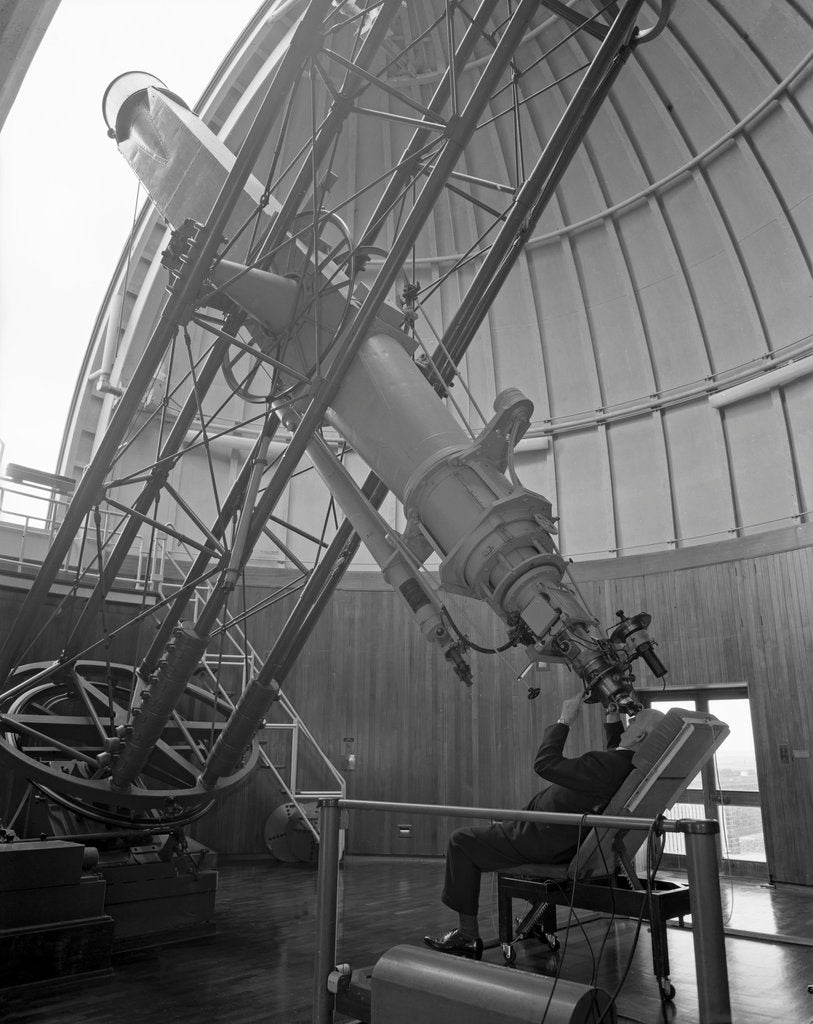 Detail of Using the equatorial telescope, Royal Observatory, Greenwich by unknown